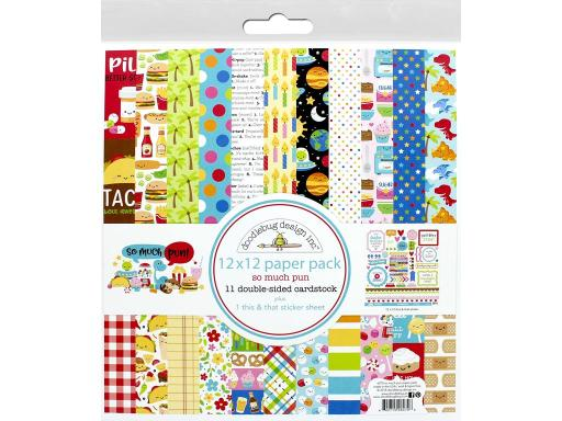 52711077dee97 Doo6070 doodlebug so much pun paper pack 12x12