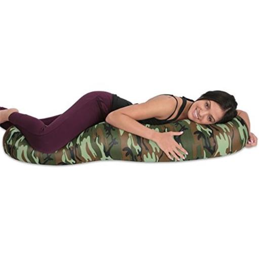 Living Health Products LRGMBR-Camo-08 Microbead Body Pillow Camouflage - Mooshi Squishy Soft Cover