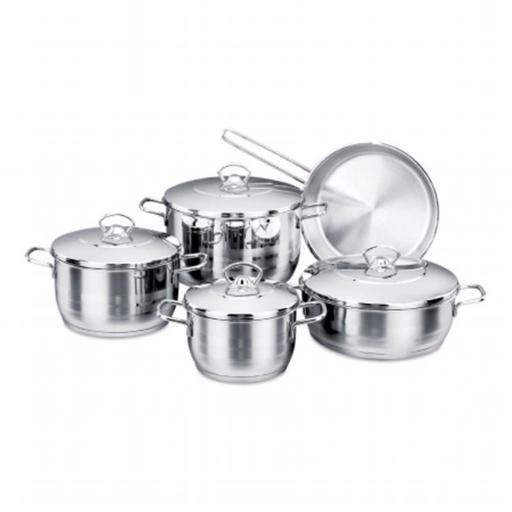 YBM Home A1901 Stainless Steel Cookware Set, 11 Piece