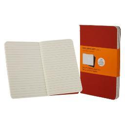 Chronicle / hachette book 9788862930956 moleskine ruled cahier cranberry red pocket 3.5x5.5 3pk