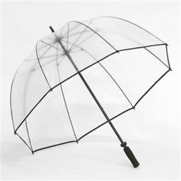 Elite Rain Frankford GB01-BLK Clear Golf Bubble Umbrella, Black Trim