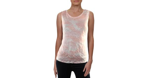 Generation Love Womens Camouflage Lace-Up Tank Top