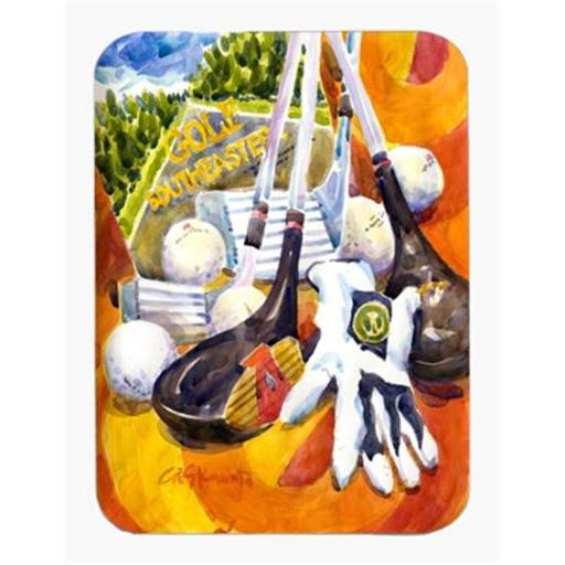 9.5 x 8 in. Southeastern Golf Clubs with Glove and Balls Mouse Pad, Hot Pad Or Trivet