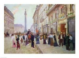Workers leaving the Maison Paquin Poster Print by Jean Beraud BALXIR10264LARGE