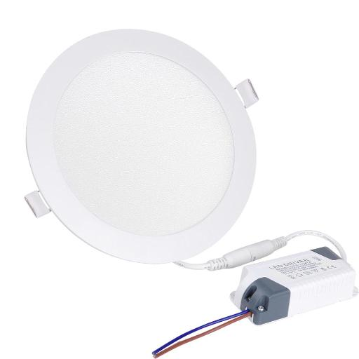 Yescom 12W Ultra-thin Round LED Panel Down Light, 3000K Warm White, 720 Lumens, LED Recessed Ceiling Light w/ Drivers