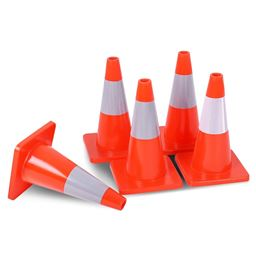 5 pcs 18 Slim Fluorescent Safety Parking Traffic Cones""