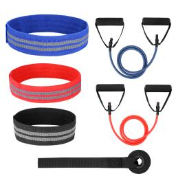 ODOLAND Hip Bands Set with 3 Booty Loop Bands, 2x Single Resistance Bands and Door Anchor – Perfect Exercise Bands Set for Crossfit, Yoga, Physical Therapy, and Booty Building