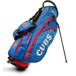 Team Golf MLB Chicago Cubs Fairway Golf Stand Bag, Lightweight, 14-way Top, Spring Action Stand, Insulated Cooler Pocket, Padded Strap, Umbrella Holder & Removable Rain Hood