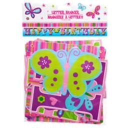 Happy Birthday Butterfly Letter Banners, 7 ft. by Greenbrier