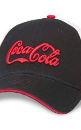 American Needle Foundry Coke Coca-Cola Mesh Hat, Ivory/Black/Red (COKE-1703A)