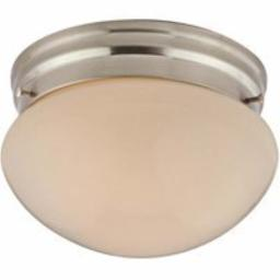 Boston Harbor F13BB01-6854-BN 5103189 Dimmable Round Ceiling Light Fixture, (1) 60/13 W Medium A19/Cfl Lamp, Brushed Nickel