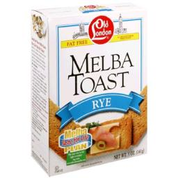 Old London Rye Toast, 5.0-Ounce Boxes (Pack of 12)