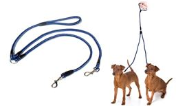 Top Quality  Premium  New  No-Tangle Dual Double Dog Leash Strap
