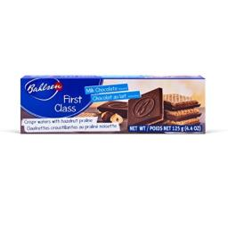 Bahlsen First Class Milk Cookies (1 box) - Hazelnut wafers covered in milky European chocolate - 4.4 oz box