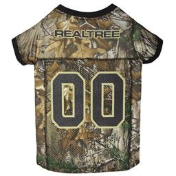 Pets First Realtree Camouflage Hunting Dog Jersey, Large