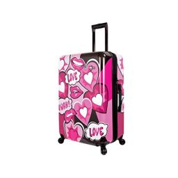 Mia Toro Italy Amore Hardside 24 Inch Spinner Luggage-Pink