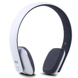 Wireless Headphones - August EP636 - Cordless Bluetooth Headset with Microphone,White