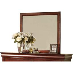 ACME 19524 Louis Philippe III Mirror, Cherry Finish