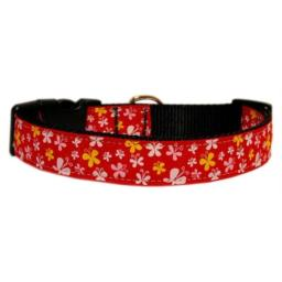 Mirage Pet Products Butterfly Nylon Ribbon Collar, X-Small, Red