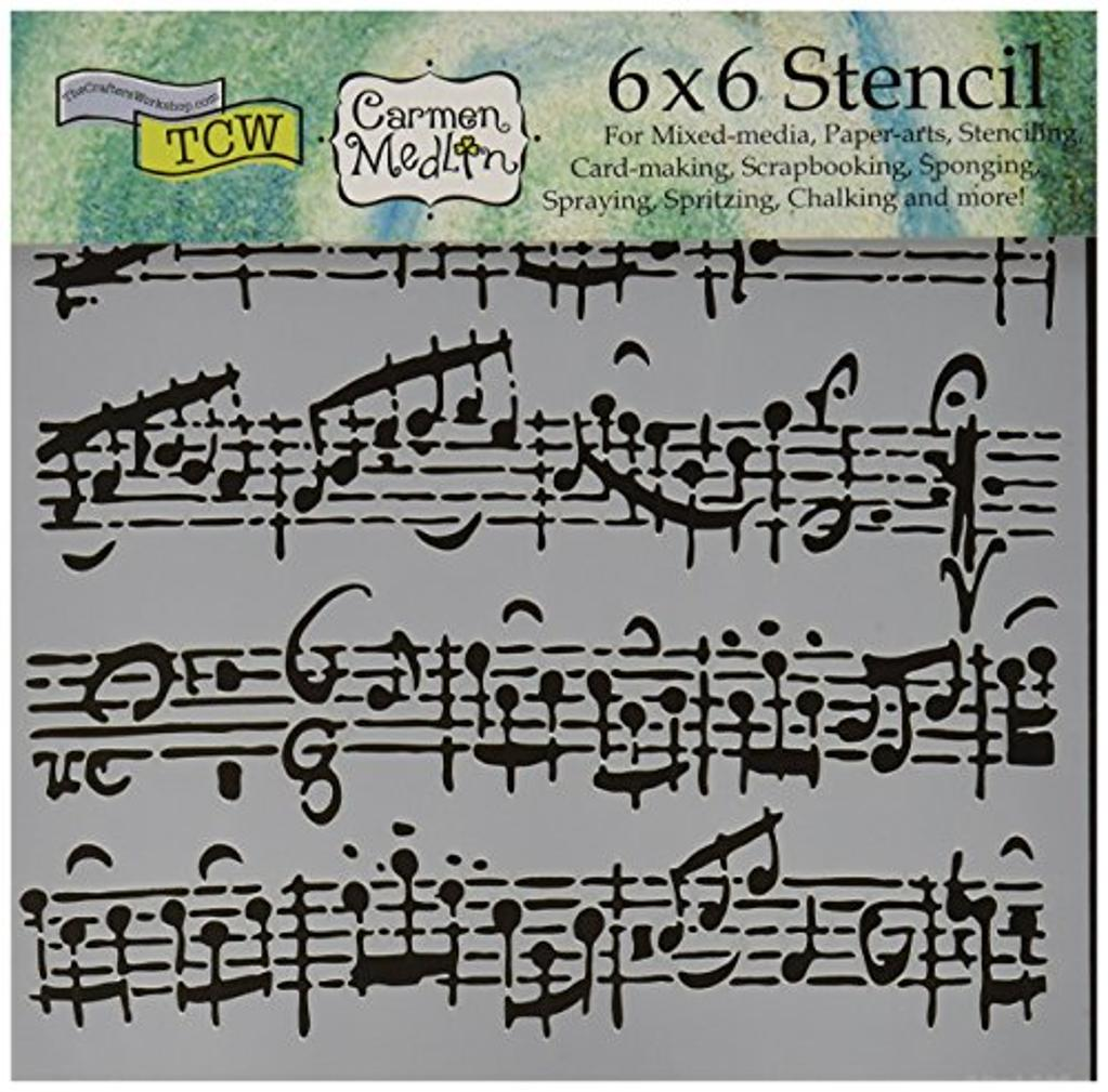 """CRAFTERS WORKSHOP Sheet Music Crafter's Workshop Template, 6 by 6"""""""