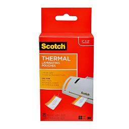 Scotch Thermal Laminating Pouches, 5 Mil Thick for Extra Protection, Professional Quality, 2.48 in x 4.21 in, Luggage Tag Size with Loop, 25 Pouches (TP5853-25)