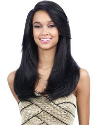 URSULA (2 Dark Brown) - FreeTress Equal Synthetic Hair Extreme Side Part Wig by Freetress
