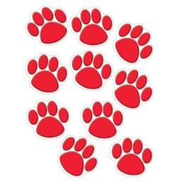 Teacher Created Resources Red Paw Prints Accents (4647)