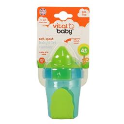 Vital Baby Baby's 1st Tumbler Spill-Free Soft Spout with Hygienic Cover, Blue