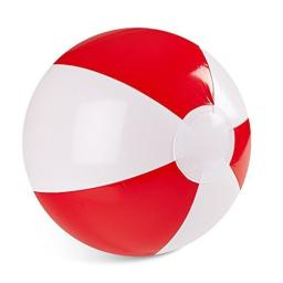 """Inflatable 12"""" Inch Red and White Color 1 Dozen Beach Balls (12 Pack)"""