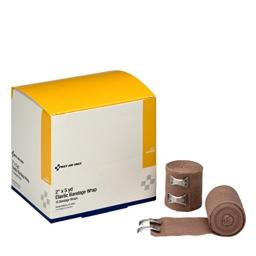 """First Aid Only 2"""" X 5 Yd. Elastic Bandage, Latex-free With Two Fasteners, 18-Count Boxes"""