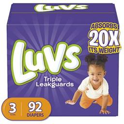 Luvs Ultra Leakguard Diapers Size 3 92 Ct. Box