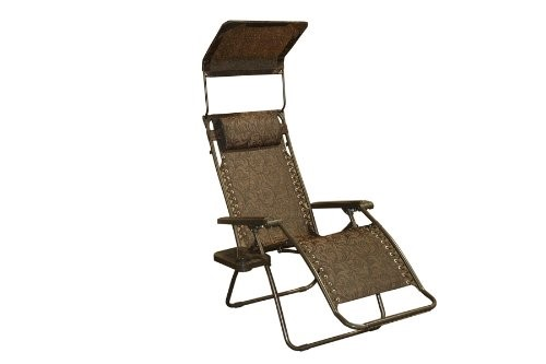 Bliss Hammocks GFC-434J Gravity Free Recliner with Sun Shade and Drink Tray