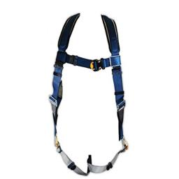 3M DBI-SALA ExoFit 1107981 Vest Style Harness, Back D-Ring, Loops For Belt, Quick-Connect Buckles, Extra Large, Blue/Gray