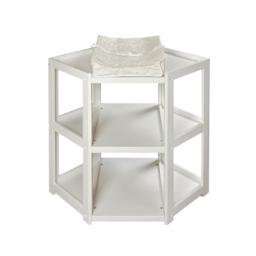 Badger Basket Co White Diaper Corner Baby Changing Table