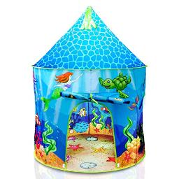 Usa Toyz Under The Sea Kids Tent Mermaid Pop Up Kids Play Tent, Indoor And Outdoor Playhouse Tent For Boys And Girls With Included Toddler Tent Storage Tote Bag