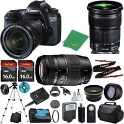 Canon EOS 6D with 24-105mm IS STM + Tamron 70-300mm AF + 2pcs 16GB Memory + Case + Reader + Tripod + ZeeTech Starter Set + Wide Angle + Telephoto + Flash + Filter