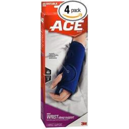 Ace Night Wrist Sleep Support One Size - 1 ea., Pack of 4