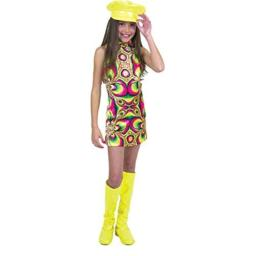 Psychedelic Go Go Girl Costume Child Large (10-12)