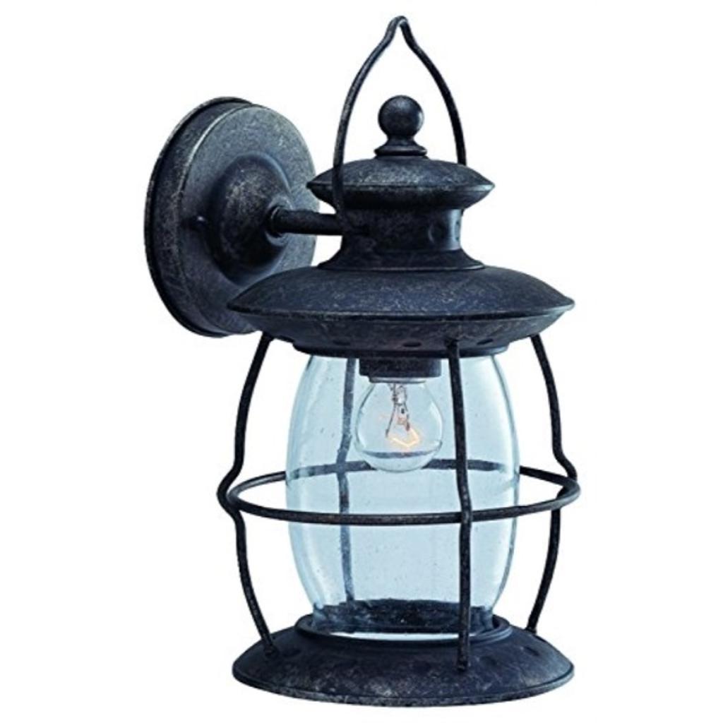 Boston Harbor BRT-CDC16913L 6329759 Dimmable Outdoor Lantern, (1) 60/13 W Medium A19/Cfl Lamp, Misty Pewter