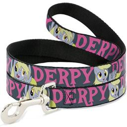 """Buckle-Down """"Derpy/Expressions Gray/Pink (Similar to WMLP018-submit one Design Pet Leash, 6'-1/2"""""""