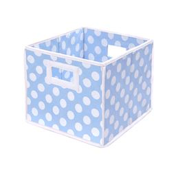 Badger Basket Co Folding Basket/Storage Cube - Blue Polka Dot