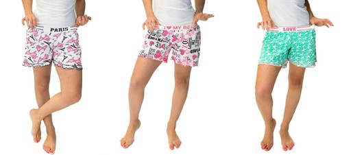 mass genie- 71% Off!.  3-Piece Pack Women's Pajama Shorts only $11 (was $38) with Free Shipping. Available in 3 colors per pack and 4 sizes