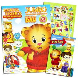 Daniel Tiger Coloring and Activity Book Set with Stickers and Crayons