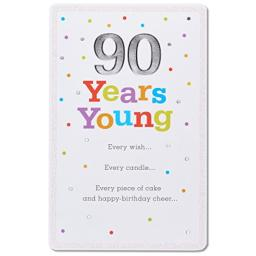 American Greetings 90 Years Young 90th Birthday Greeting Card with Glitter and Foil