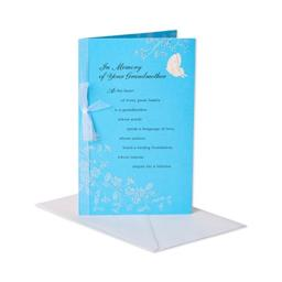 American Greetings In Memory of Your Grandmother Sympathy Greeting Card with Ribbon