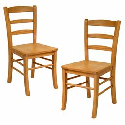 Winsome Home Decorative Solid Wood Ladder Back Chair - Set of 2, RTA
