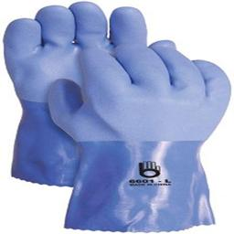 Bellingham Glove 6601 PVC Triple Coat Gloves, Medium, Blue