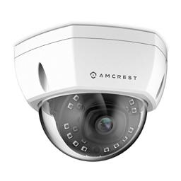 Amcrest 5MP Outdoor PoE IP Camera, UltraHD 5MP Security Camera, 2.8mm Lens, IP67 Weatherproof Security, Cloud & MicroSD Recording (IP5M-1176EW) White