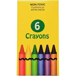 DDI - 6 pack of Crayons (Cases of 360 items)