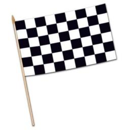 Checkered Flag - Rayon (w/22 spear-tipped wooden dowel) Party Accessory (1 count)